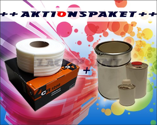 Aktionspaket 4CR Füllerband + 1,5L Füllerset hellgrau oder Wunschfarbton