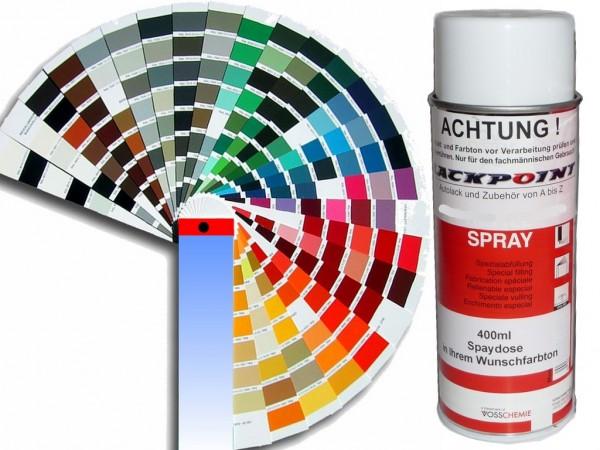1K Glanz Spraydose 400ml in Wunschfarbe UNI kein Metallic oder Neon kein Klarlack nötig