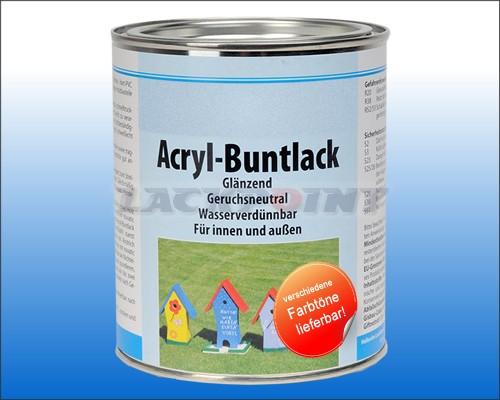 Acryl Buntlack Reinweiß GLÄNZEND