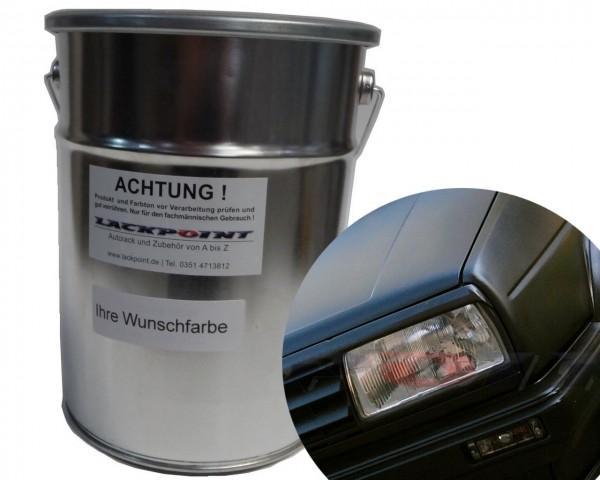 1K Autolack matt RAL 9005 Tiefschwarz MATT