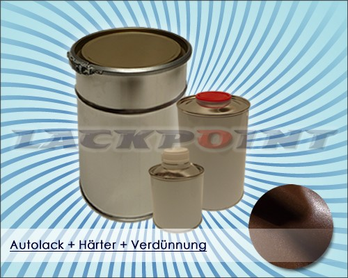 2K Autolack Set Dunkelbraun Metallic