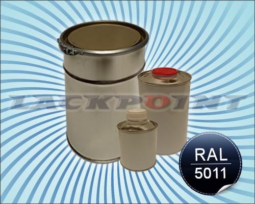 Bootslack RAL 5011 Stahlblau im Set inkl. Härter und Verdünner