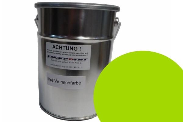 Basislack Porsche 2M8 Acidgreen UNI kein Metallic ( Wasserbasis )