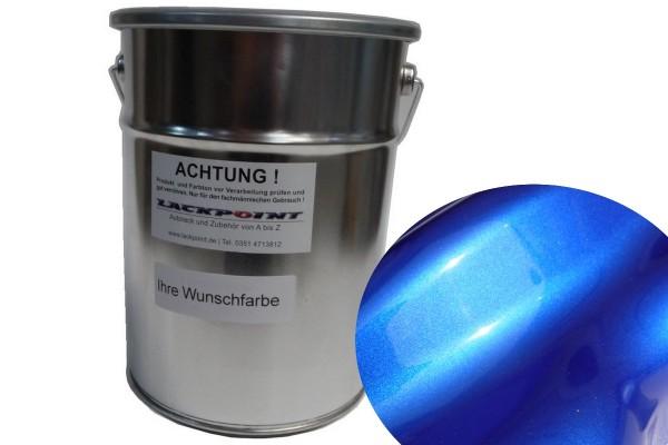 Basislack Brillant Color Blau Tintenlasur Blatt 6 Effektlack