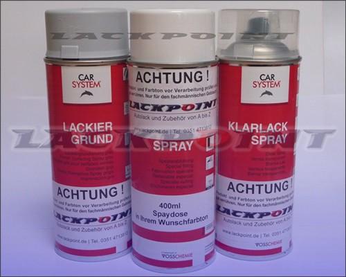 Autolack METALLIC Wunschfarbton - Spraydosen Set