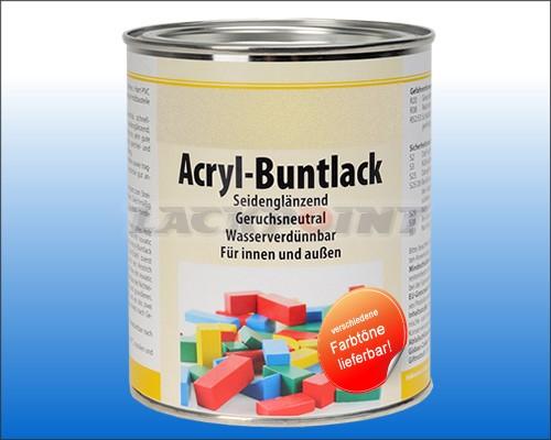 Acryl Buntlack SEIDENGLÄNZEND Reinweiß