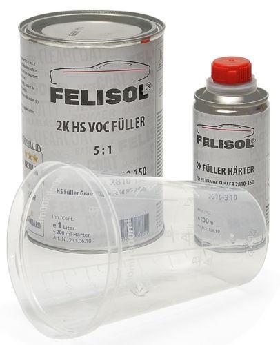 Felisol 2K HS Füller Grundierung Grau im Set