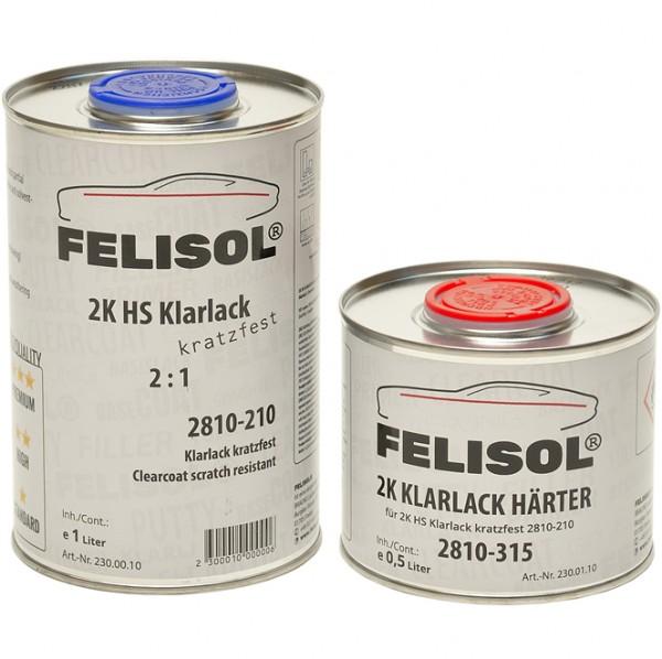 1,5 Liter Set Felisol 2K Klarlack Glanz inkl. Härter für Autolack