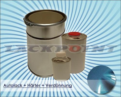 2K Autolack Set Grün Blau Metallic