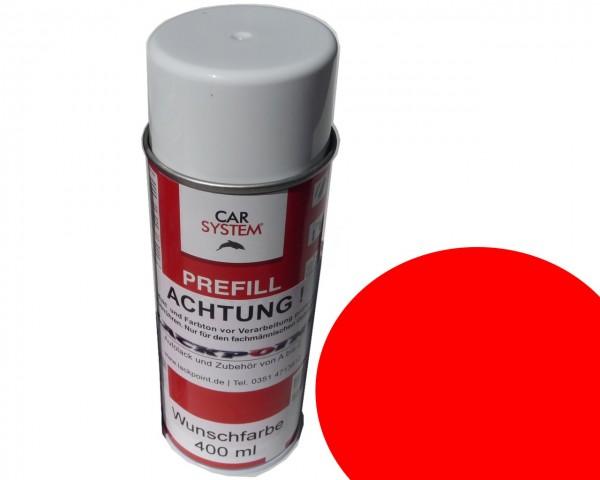Spraydose 400ml Basislack Vorlack Rot Uni für Basislack
